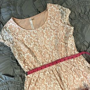 NY Collection Pink Lace Dress